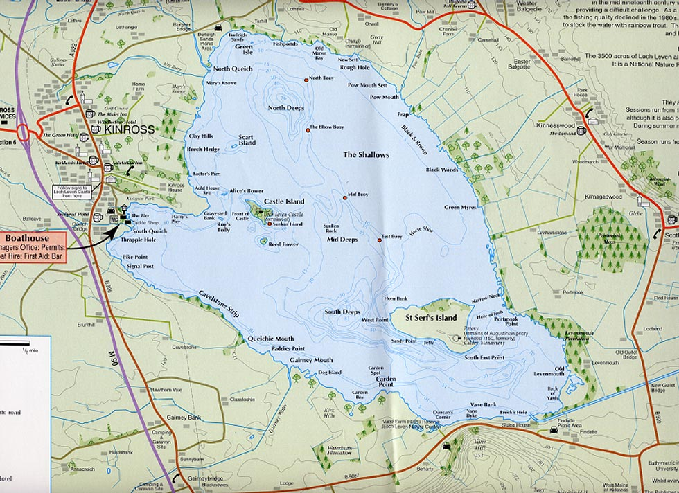 Loch Leven Fishing Map