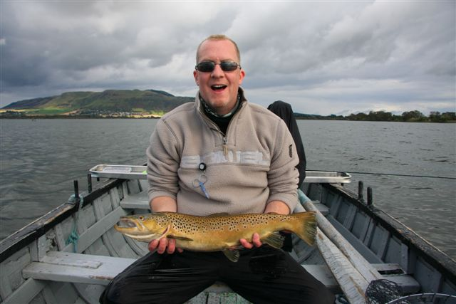 Martin McLaughlin with his brownie estimated at around 7 lbs